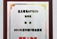 中国最佳IT职业教育机构奖